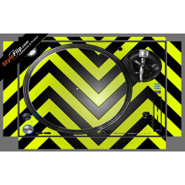 Black & Yellow Chevron Pioneer PLX-1000
