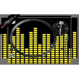 Yellow Equalizer  Pioneer PLX-1000