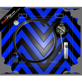 Black & Blue Chevron Technics SL-1200 MK2
