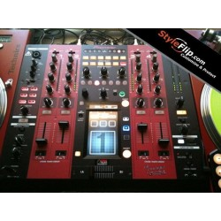 Custom Pioneer DJM 2000 Black and Red Stripes