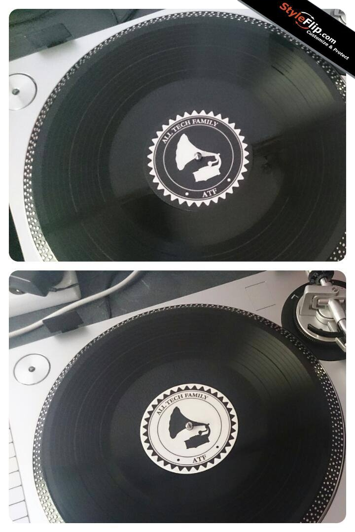 """12"""" Record Label Skins Custom Sticker Covers & Decals"""